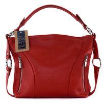 OH MY BAG Sac à main femme en cuir tissé rouge SAaBC