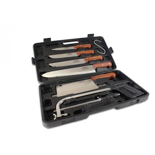 Pradel Excellence Malette de 8 couteaux et accessoires pour bouchers et chasseurs Prade