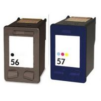 Marque Generique - Hp Pack N°56+ N°57 Cartouches Compatibles