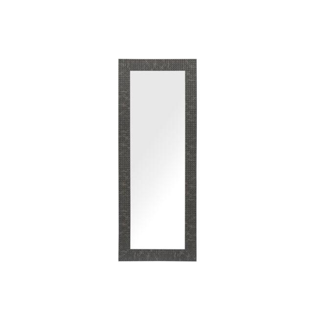BELIANI Miroir mural noir 50 x 130 cm PLAISIR