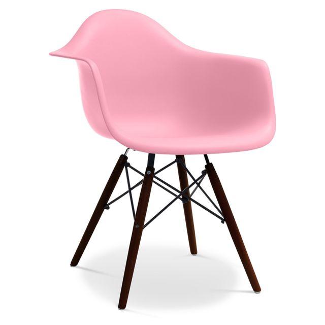Privatefloor Chaise Daw Piètement foncé Charles Eames - Style