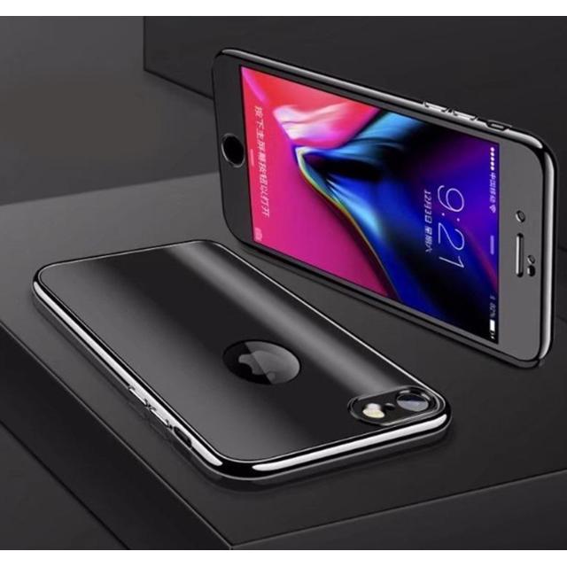 coque noir effet miroir iphone 7 plus