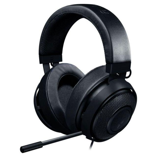 RAZER Casque Kraken Pro v2 Oval Noir Le casqueRazer Kraken Pro v2est équipé d'un micro entièrement rétractable, de commandes du volume sonore et d'un bouton pour désactiver le micro situés sur le câble, ce qui vous permet d'accéder facilement à toutes s