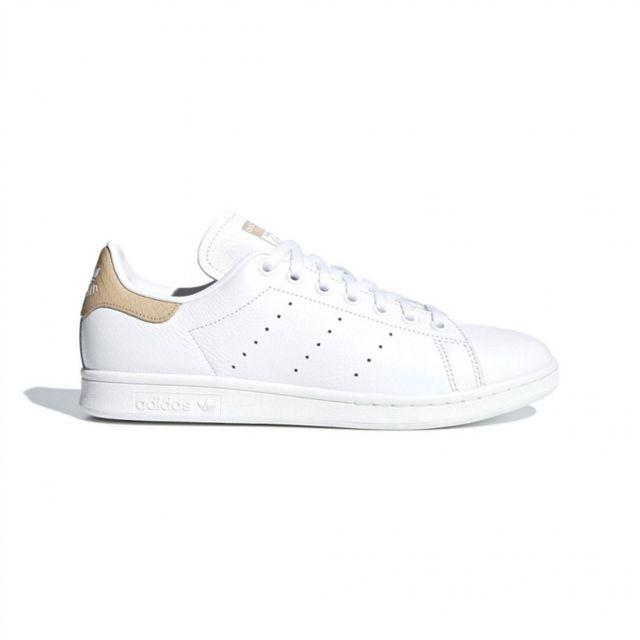 Adidas originals - Adidas chaussure stan smith blanc-beige ...