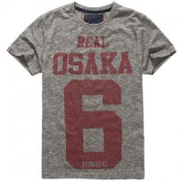 Superdry - Tee Shirt Real Osaka 6 Gris Homme