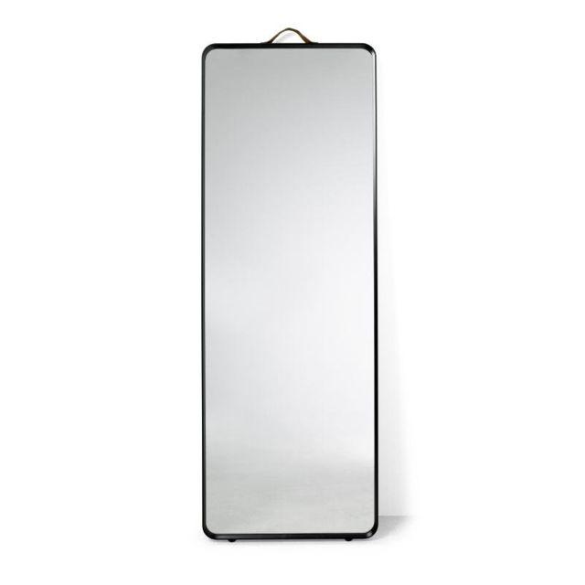 Menu Miroir sur pied Norm - noir