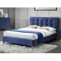 Générique Lit Empilable X Bleu Gaby Pas Cher Achat Vente - Lit adulte 140x190 cm gaby coloris noir