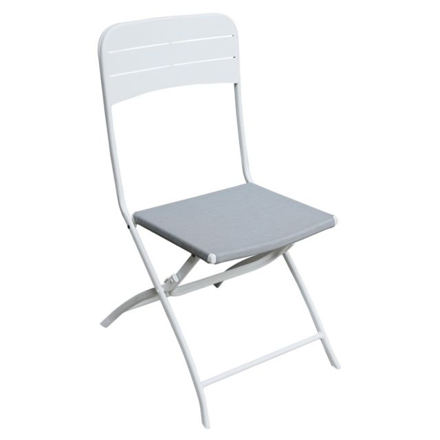 Tropez pas Blanche St Pliante Vente Chaise cher Achat 6bfgyY7