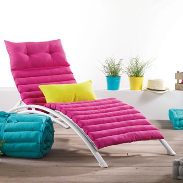 fred olivier coussin bain de soleil pacifique uni fuchsia 60x180 cm rose pas cher achat. Black Bedroom Furniture Sets. Home Design Ideas
