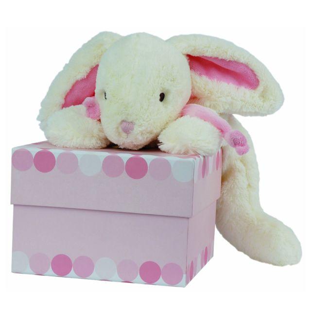Doudou Et Compagnie - Doudou grand modèle : Lapin Bonbon rose