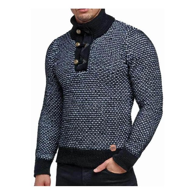 357ca54aed8ba Beststyle - Pull chaud pas cher homme noir col montant mode - pas ...