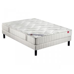 epeda ensemble matelas ressort joya sommier pieds 160x200 blanc pas cher achat vente. Black Bedroom Furniture Sets. Home Design Ideas