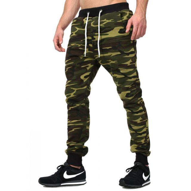 akito tanaka jogging camouflage kaki 405 vert xl pas cher achat vente surv tement homme. Black Bedroom Furniture Sets. Home Design Ideas