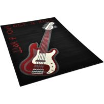 DeBonsol - Tapis salon Guitare Rock multicolor