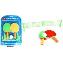 8c4fc7c3b3636 Sans - Set de Ping Pong avec Raquette Balle et Filet - Jeu Tennis de Table