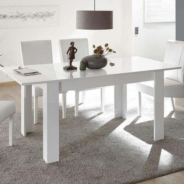 Sofamobili Table 180 extensible blanche design Serena