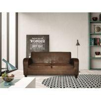 meilleur site web 1ec91 6f1a1 Canapé 3 Pl Orion Revêtement imitation cuir vieilli