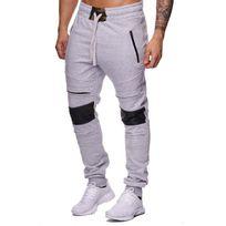 Violento - Jogging homme coton gris clair