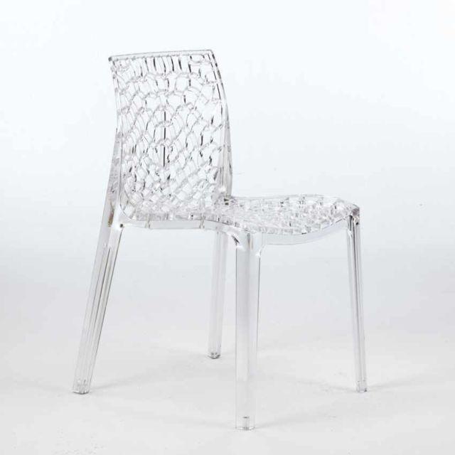 chaise salle a manger transparentes