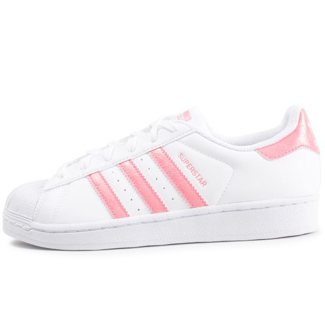 Adidas originals - Superstar Junior Rose Et Blanche
