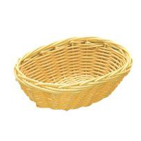 Az boutique - Corbeille à pain ovale 23 x 15cm - polypropylène - aspect osier - Corbeille polypropylène