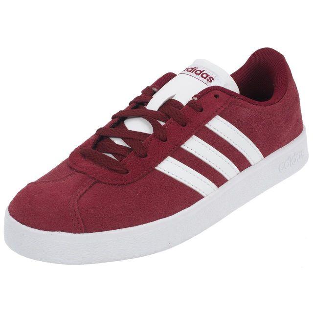 Vl Rouge Chaussures Ville 0 Mode Adidas Neo Court Bordeau 2 76650 R54jLA