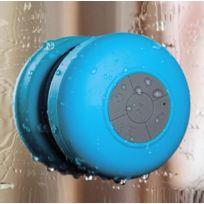 Shot - Enceinte Waterproof Bluetooth pour Lg Leon Smartphone Ventouse Haut-Parleur Micro Douche Petite BLEU
