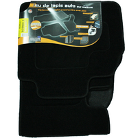 Topcar - 3 Tapis de sol semi-mesure pour Renault Scénic 2, noirs pour fixations d'origine attaches non fournies Arcoll 019510