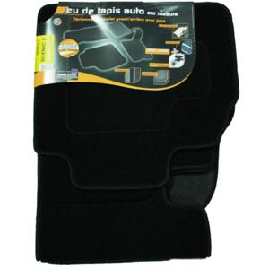 Topcar - 3 Tapis de sol semi-mesure pour Renault Scénic 2, noirs pour fixations d'origine attaches non fournies Arcoll 019510 Nc