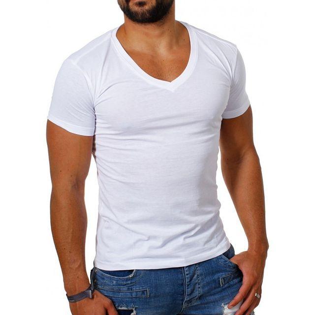 caebcde252a83 Beststyle - T-shirt homme manche courte blanc - pas cher Achat ...