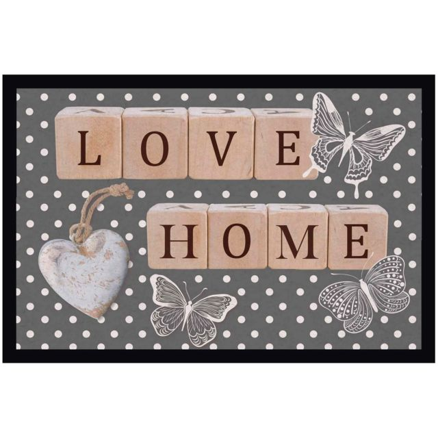 Promobo Tapis D Entree Collection Love Home 40 X 60cm Pas Cher