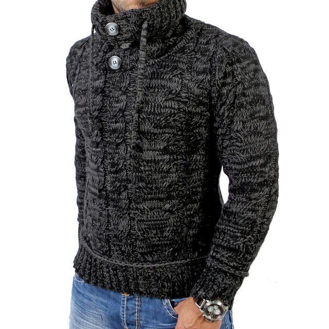 5a38a9e32 Tazzio - Pull fashion homme Pull Tz3960 gris mélangé - pas cher ...