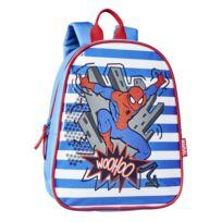 MARVEL - Mini sac à dos SPIDERMAN - 29 cm - Bleu et rouge - Maternelle