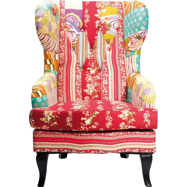 Karedesign Fauteuil Wing Patchwork Kare Design