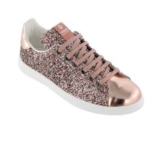 Victoria - Chaussures Deportivo Basket Glitter Rosa Rose