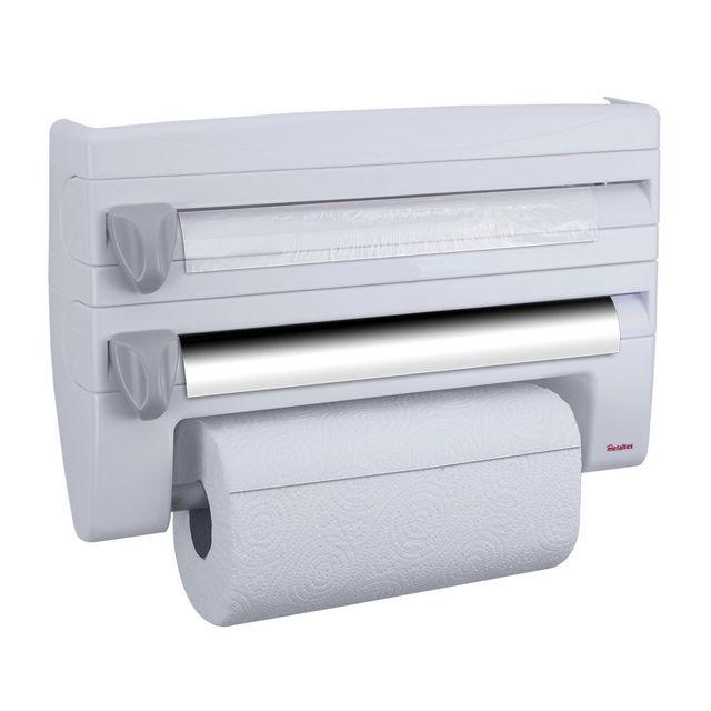 Metaltex d rouleur coupe film papier essuie tout aluminium 254410 pas cher achat vente - Derouleur papier alu ...