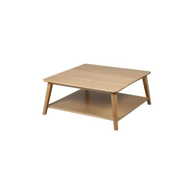 Table basse carrée en chêne massif Trendy