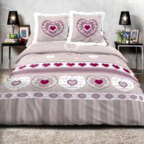 Best Interior - Parure de draps 100% coton Romance