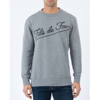 03eb5c7936 FRENCH KICK - Sweat homme - gris avec broderie
