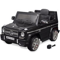 Justdeco - Superbe Voiture Suv électrique Mercedes Benz G65 2 moteurs Noir neuf