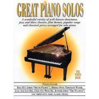 Wise Publications - Partitions Variété, Pop, Rock. Music Sales Great Piano Solos - Blanc Piano