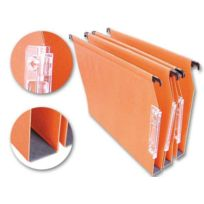 L'oblique A-z - Dossiers suspendus armoires kraft recyclé - orange - Fond 30 mm