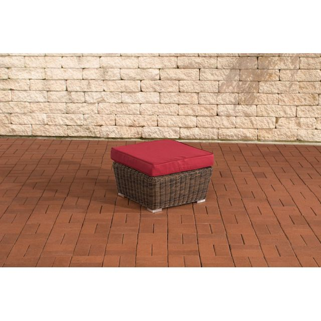 Inedit Pouf Repose-pieds Apia rouge