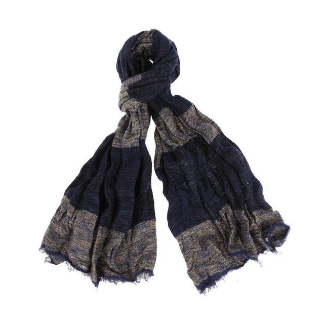 Soldes Pepe Jeans - Chèche Swan à rayures bleues et grises, effet ... 24e1f8cdb10