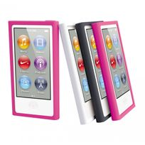Muvit - Pack 3 Silicone Pour Ipod Nano 7g : Noir, Rose, Blanc