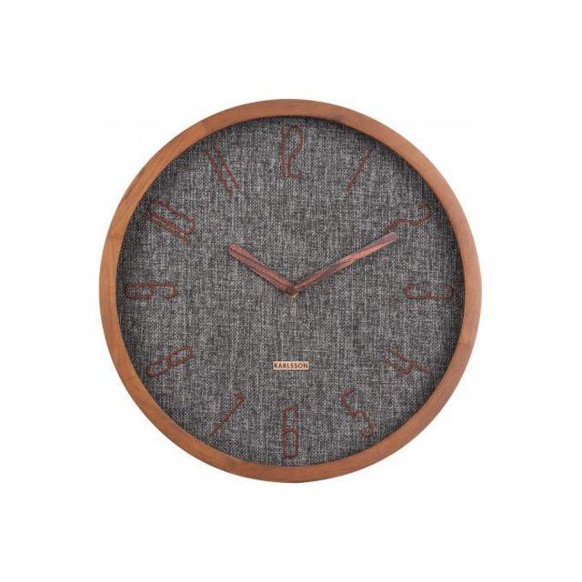 Declikdeco Horloge Murale En Bois Beige Avec Cadran Gris Cuizi Pas Cher Achat Vente Horloges Pendules Rueducommerce