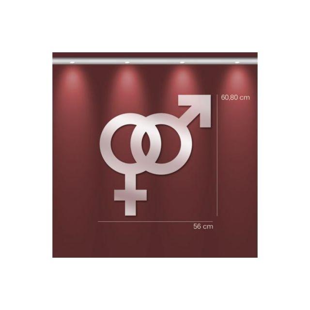 Declikdeco Miroir sexe opposé Gm argenté en verre Thais 61 x 56 cm
