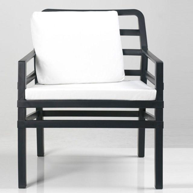 Coussin d\'assise pour fauteuil de jardin Aria 62x58