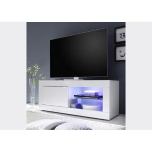 Envie de meubles meuble tv laqu blanc tika 140 cm pas for Envie de meuble