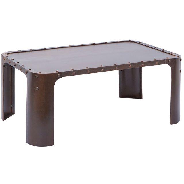 Altobuy Steel Rouille - Table Basse Métal